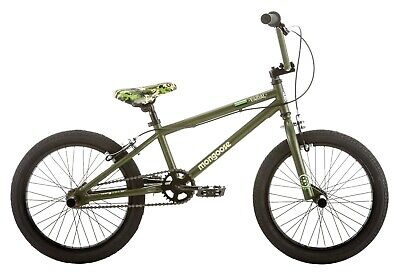 NEW Mongoose Varial 18-inch Boys BMX Freestyle Bike with 4 Pegs-Green