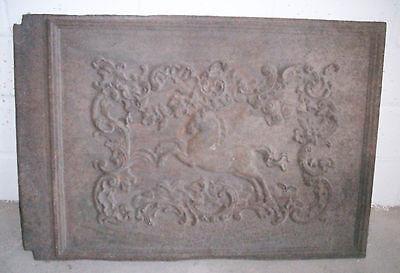 Alte Ofenplatte aus Gußeisen.