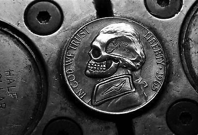 Coalburn classic Hobo Nickel   jefferson nickel OHNS SKULL