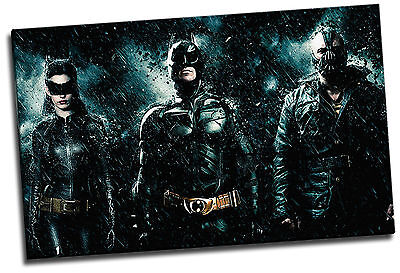 s Batman Cat Woman & Bane Giclee Canvas Poster Picture Art (Cat Woman The Dark Knight Rises)