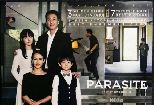 PARASITE:  STANDOUT FYC Booklet from OSCAR NOMINATED  Director BONG JOON-HO