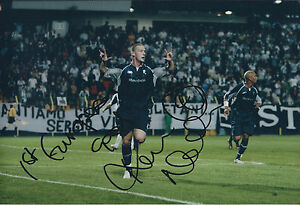 Kevin-NOLAN-SIGNED-COA-Autograph-12x8-Photo-AFTAL-Bolton-1st-European-Goal-RARE