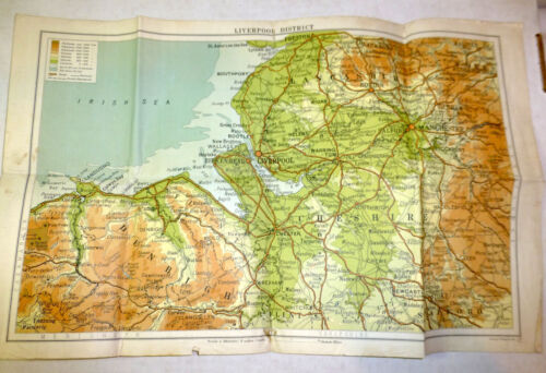 Map of Liverpool District, United Kingdom; c. 1940s; George Philip & Son