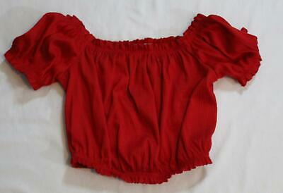 H&M Women's Divided Short Sleeve Gauze Crop Top SV3 Red Size XS NWT