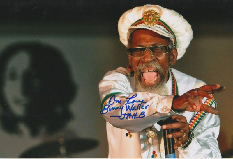 "Bunny Wailer ""Bob Marley & The Wailers"" signed 8x12 inch photo autograph"