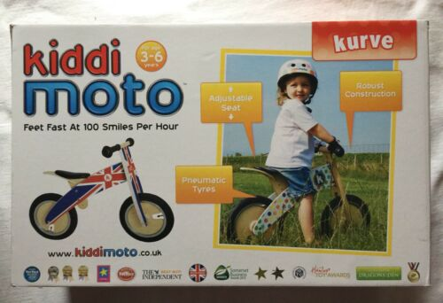 Kiddi Moto Kurve Balance Bike New Usa Seller Union Jack