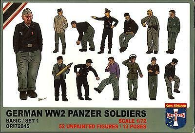 Orion Models 1/72 GERMAN WORLD WAR II PANZER SOLDIERS Figure Set