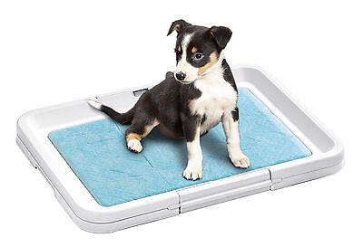 Welpen WC Puppy Potty Stubenrein Erziehungshilfe incl. Pad NEU #