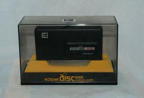 Vintage 1980s Kodak Disc Camera 6100 with Display Case and Instructions