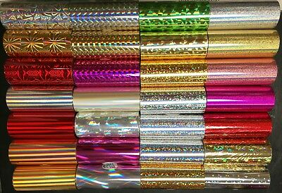 Kingsley Hot Stamp Holographic Foil - 3 X 95 - Order 3 Rolls From 30 Styles