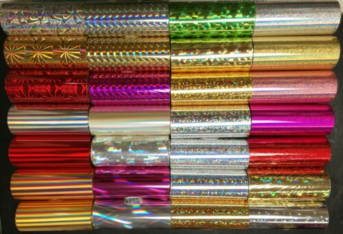"""Kingsley Howard Hot Stamp Holographic Foil - 3"""" x 90+"""" - 3 Roll pak - 30+ Styles"""