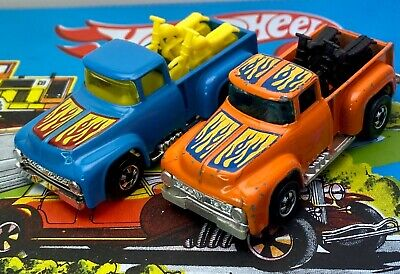 Vintage Hot Wheels BW Hi-Tail Hauler 2 Car Lot Orange and Blue