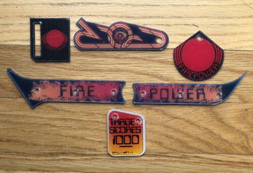 Awesome Firepower pinball plastics. New reproduction Firepower promo plastics.
