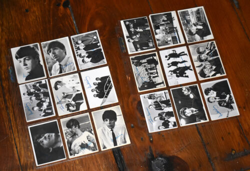 20 original TOPPS Beatles Cards Black & White Series in acetate sleeves1964