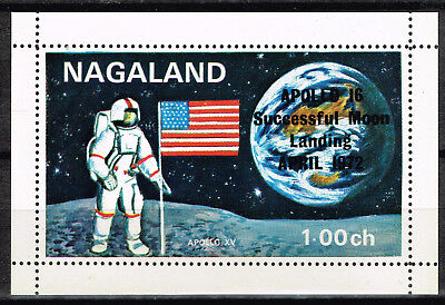 Nagaland Space Apollo 15 on Moon Souvenir Sheet 1971 MNH, used for sale  Shipping to India