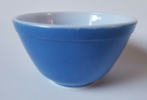 Pyrex Mixing Nesting Bowl Primary Colors Blue Small 401 1.5 Pt Vintage 1970