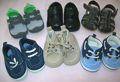 BOY BABY SHOES LOT: Size 1: BABY GAP; THE CHILDRENS PLACE, CARTERS: Some NWOT.