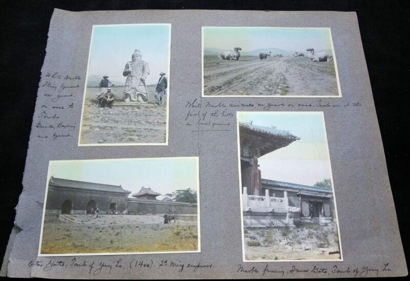 7x 1910 COLOR PHOTOGRAPHS CHINA MING TOMBS P269