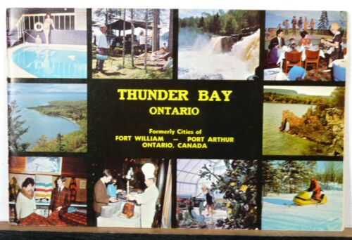 1964 Thunder Bay Ontario vintage informational travel booklet brochure map b