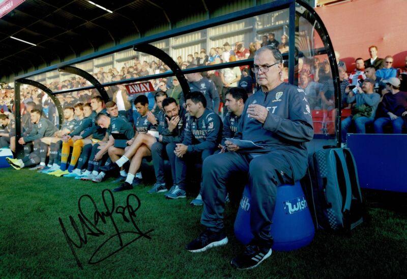 Marcelo Bielsa Signed 12X8 Photo LEEDS UNITED GENUINE Signature AFTAL COA (9135)