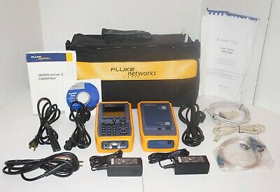 Fluke Networks Omniscanner 2 Cat6 Certifier Tester Fiber Optic Used