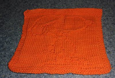 Brand New Hand Knit Snoopy Peanuts Design Cotton Dish Cloth 4 Dog Rescue Charity