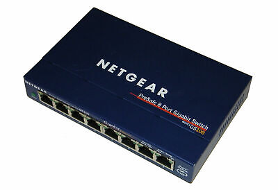 NETGEAR Prosafe 8-Port Gigabit Switch GS108 V3 10/100/1000 MBit/s