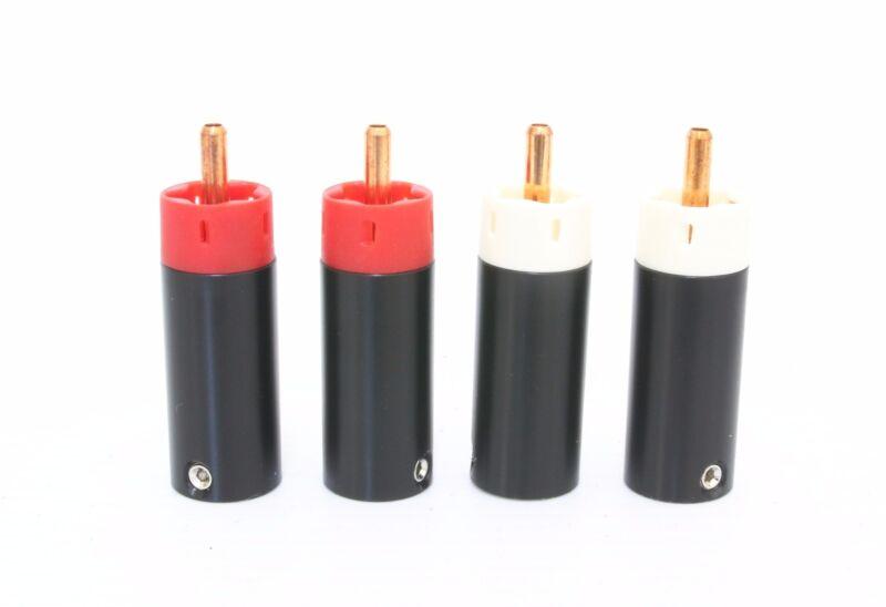 Star Line~ Tellurium Copper RCA Plugs connectors 2 Pairs / 4pcs