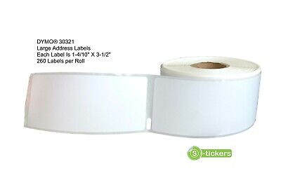 1- 20 Rolls Dymo 30321 Large Address Labels 330 400 450 Twin Turbo Duo