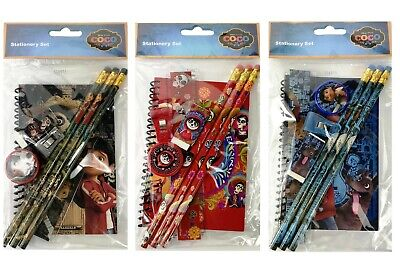 Disney Coco Set of 3 Stationary Set Back to School Supplies for Kids 8 Pieces (Stationary For Kids)