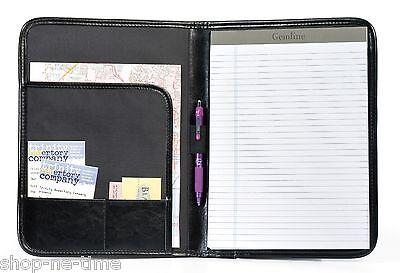 Gemline Tuscan Sleek Leather Executive Writing Pad Leather Folio - New