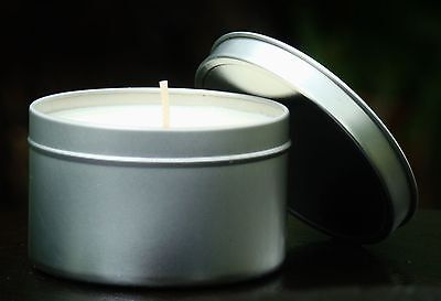 Large 40hr KIWI FRUIT & VANILLA BERRIES Scented ECO SOY CANDLE TIN with SNUFFER