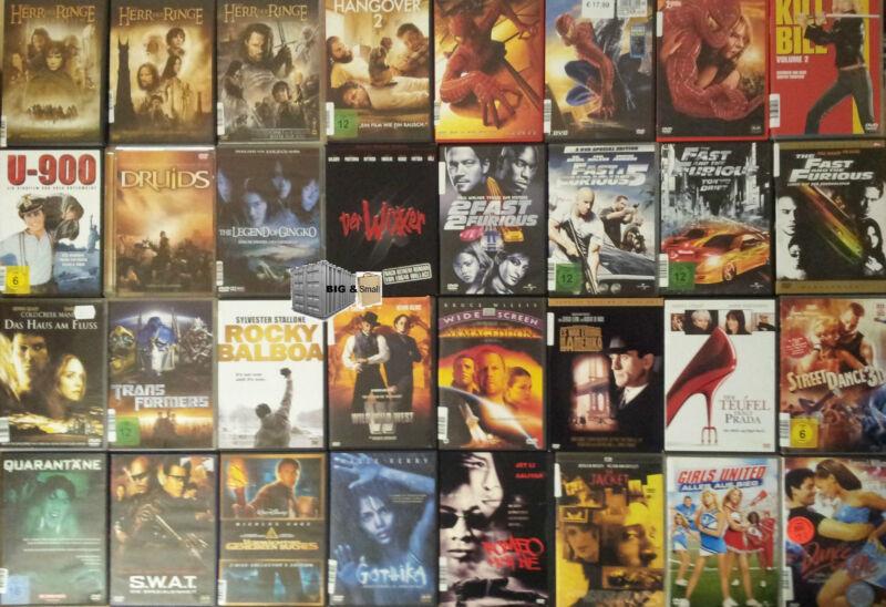 DVD Sammlung Film - 50 Stück 125 Stück 300 Stück - Blockbuster, A-Filme usw.
