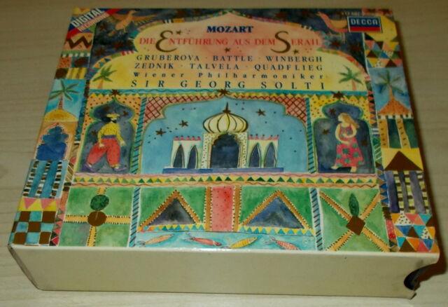 MOZART-DIE ENTFUHRUNG AUS DEM SERAIL-WG 2xCD 1987-SOLTI/BATTLE-FULL SILVER RINGS