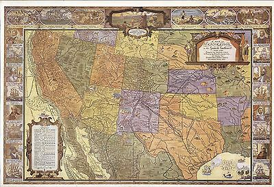 North America West Indies 1639 Vintage Style Early Exploration Map 24x32
