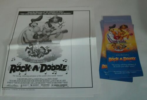 1992 ROCK a DOODLE MOVIE PROMO PRESS BOOK PRESSBOOK DON BLUTH ANIMATION