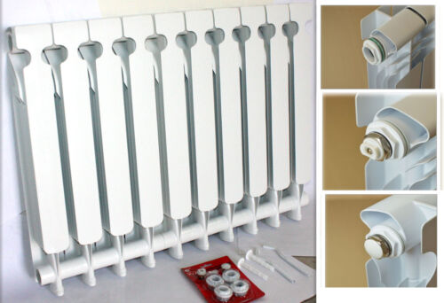 Wall Mount Radiator Heater Hot Water Heating 10 Section Alum