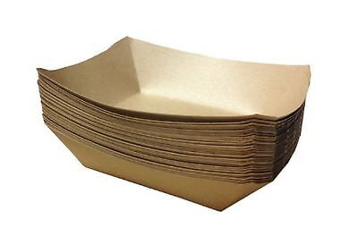 Brown Paper Food Trays 50 Count - 7 X 5 X 1.5 - 2.5 Lb Capacity