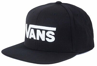 VANS Drop V II Snapback In Black-White