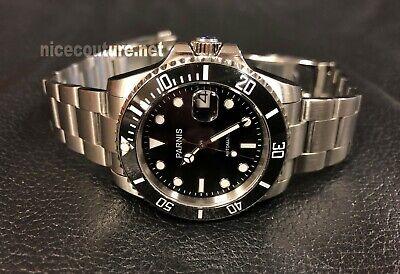 Premium Quality 40.5mm Mariner Black Dial, Ceramic Bezel, Auto, Sapphire Men's  Black Dial Ceramic Bezel