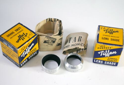 TIFFEN Stereo camera lens shades (do not fit Realist) new old stock in boxes DT