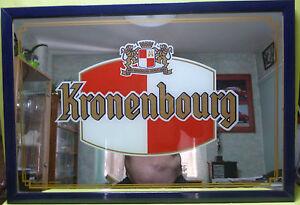 collector miroir publicitaire kronenbourg bar bistrot deco loft vk116 ebay. Black Bedroom Furniture Sets. Home Design Ideas