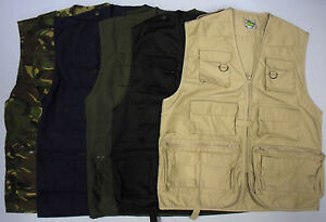 Mens-Multi-Pocket-Lightweight-Casual-Gilet-Bodywarmer-Fishing-Waistcoat-Vest