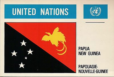 Papua New Guinea - Flags of the World - United Nations Nations Unies UN Postcard](Flags Of The Nations)