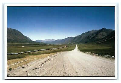 Postcard AK Trans-Alaska Pipeline North of Brooks Mountain Range covid 19 (Trans Alaska Pipeline Brooks Range coronavirus)