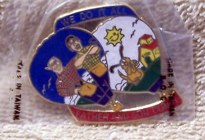 """FATHER AND SON CONST WE DO IT ALL 1 3/8"""" BY 1 1/2""""  BALLOON PIN"""