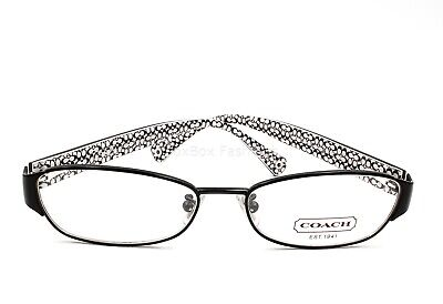 Coach HC 5018 9077 Rose Eyeglasses Optical Frames Glasses Satin Black (Rose Eyeglasses)