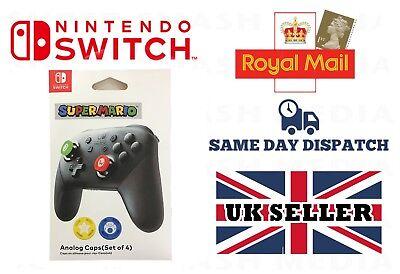 Pro Controller Analog Caps - Mario for Nintendo Switch Joy Con (4 Covers)