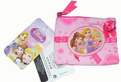 Disney Princess Girls / Kids Coin Money Pouch / Purse / Wallet Pink Christmas
