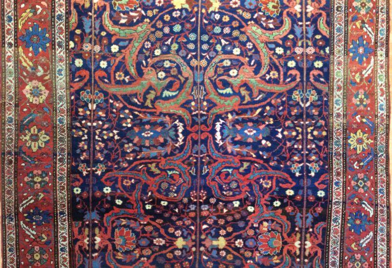 Fantastic Floral - 1900s Antique Oriental Rug - Handmade Carpet - 6.6. X 12.5 Ft